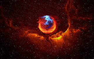 Firefox in Space wallpaper