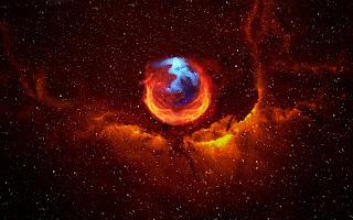 Firefox in Space wallpaper