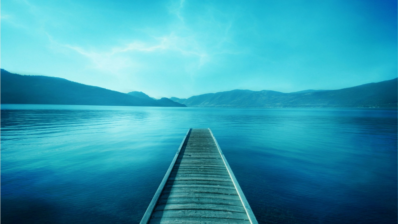 Nature In Blue Wallpaper