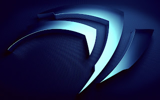 Nvidia Logo Blue wallpaper