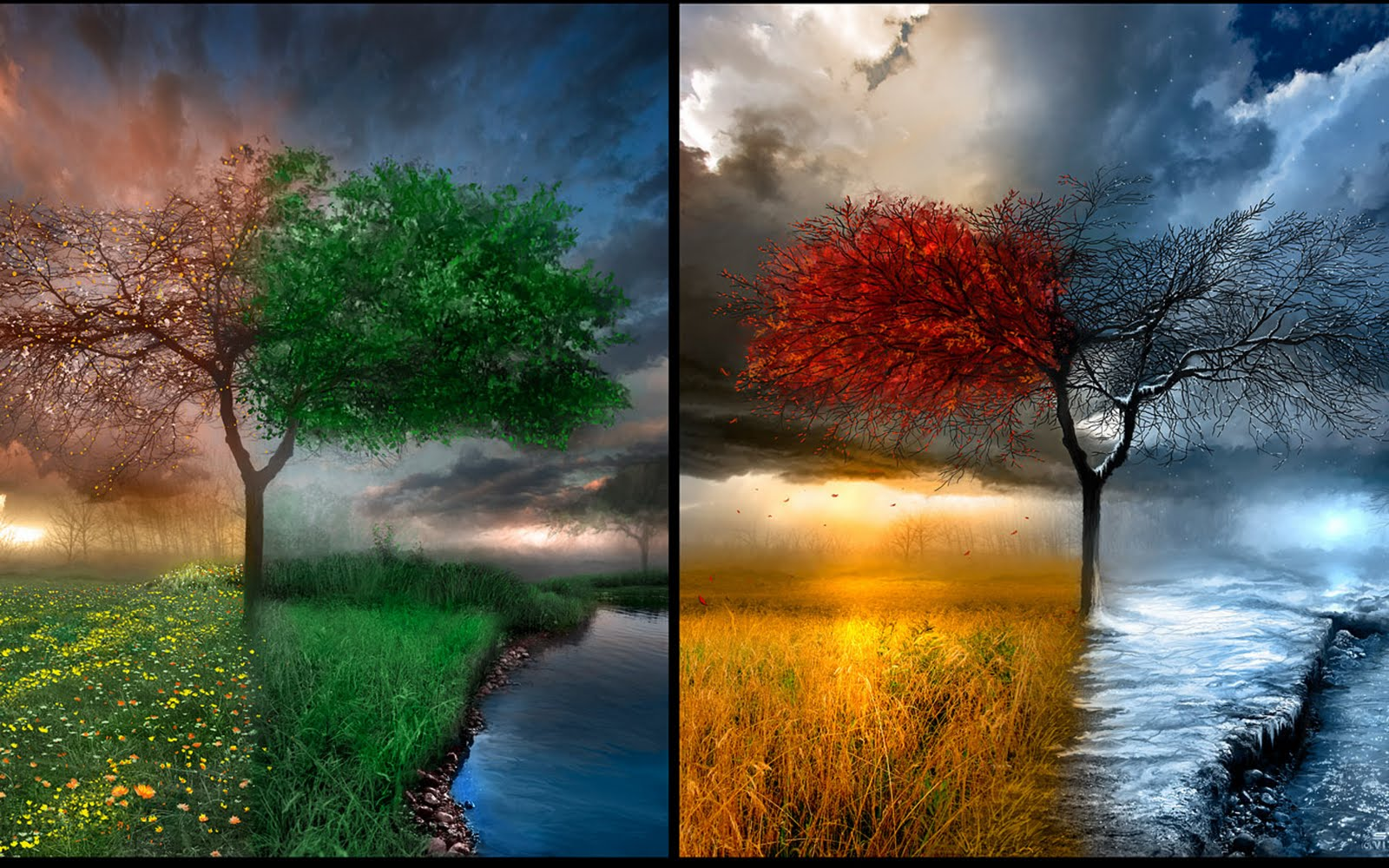 To Download Four Seasons wallpaper click on full size and then right-click