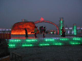 The Snow and ice displays on Sun Island, Harbin.