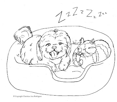 Crod Artblog Color Me Sleepytime Coloring Page Shih Tzu Coloring Pages