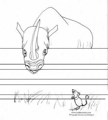 Color In This Rhino Coloring Page And Send It To Me At Mailcrodillustration As A Jpeg Or Pdf Ill Post On My Blog Happy