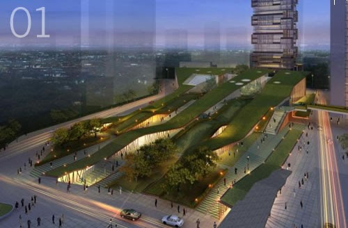Landscape Urbanism Green Ribbon Design Heping Park