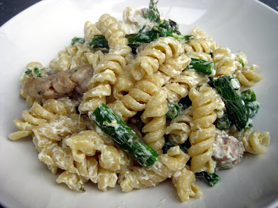 Cupcake Muffin: Pasta with Goat Cheese, Roasted Asparagus, Sausage ...