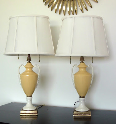 vintage neoclassical style boudoir lamps