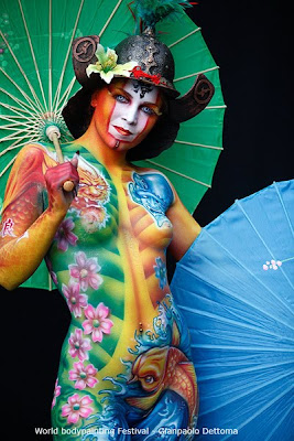 Japanese Geisha Body Painting Festival