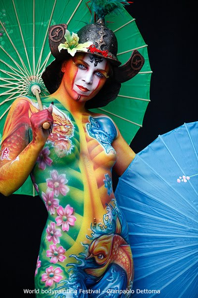 Japanese Geisha Body Painting