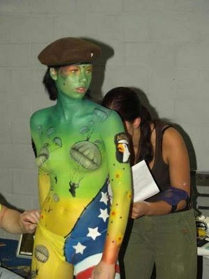 Paratroopers Body Painting
