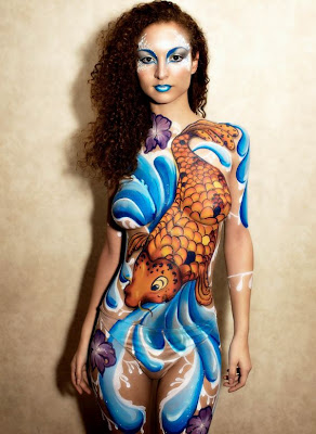body painting pictures koi body painting picture 2010