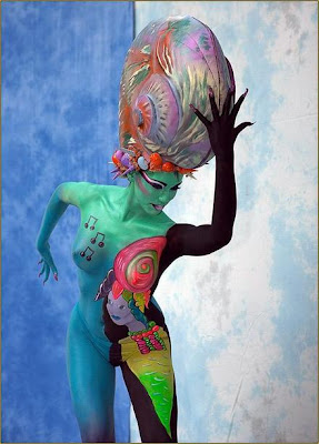 Musical body painting
