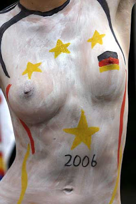 Body Painting Soccer Flag For Germany