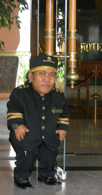 The World's Shortest Doorman
