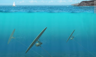 Underwater Kite generate electricity from tidal energy