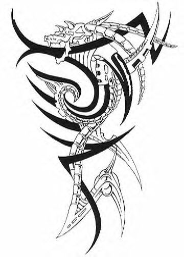 tribal tattoo dragon. These tribal tattoo designs