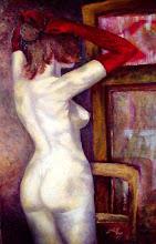 Mujer al espejo / Femme au miroir - Jicé