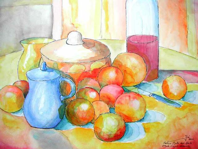 Frutas al jarro azul / Fruits au pot bleu  - Jicé