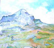 La Montagne Ste Victoire d'après P. CEZANNE - Jicé