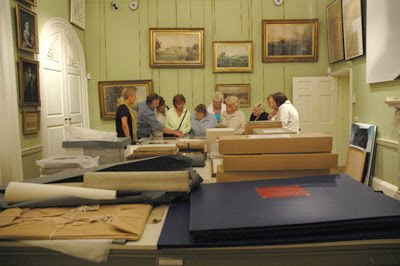 Boxes of photographs at Harewood House