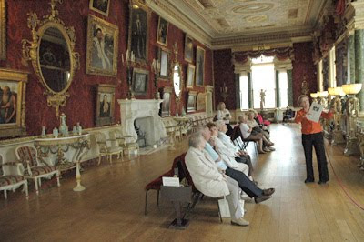 The opulent interior of Harewood House