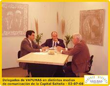 Visita a distintos medios de comunicación en la Capital Salteña