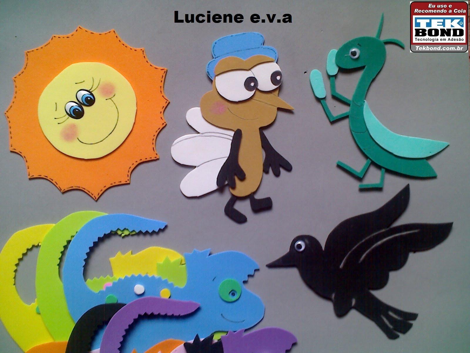 Luciene e.v.a: Fantoche bom dia todas as cores