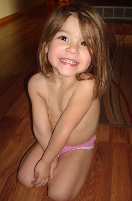 Our little naked girl :)