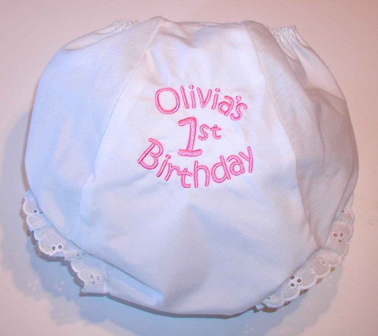 Jubilee Keepsakes: 1st Birthday Diaper Cover