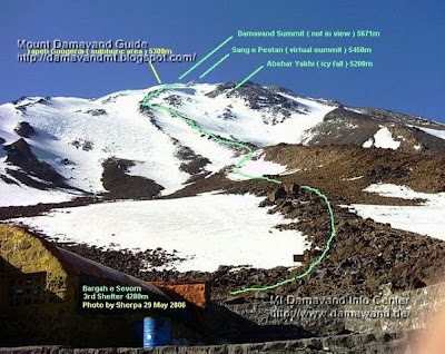 GPS Landmark Route Map Damavand