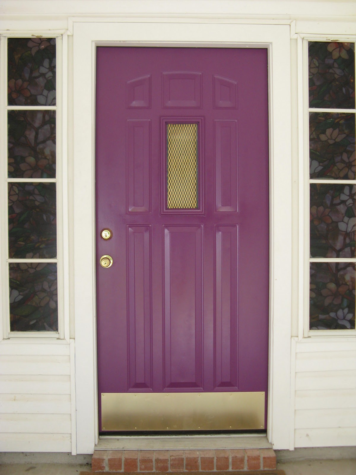 1600 #7C6847 And Now Tell Me What Color Is Your Front Door? Does It Match Your  wallpaper Purple Front Doors 47051200