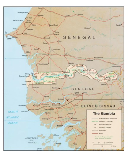 Africa I Thought You Were Joking About The Gambia - Smallest country in mainland africa