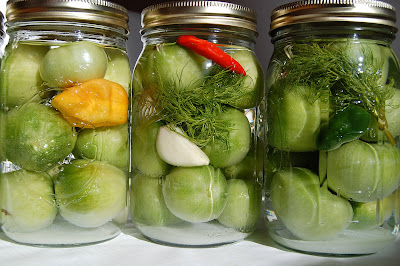 how to make sweet pickled green tomatoes