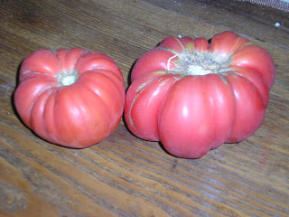 Ripe Brandywine Tomatoes