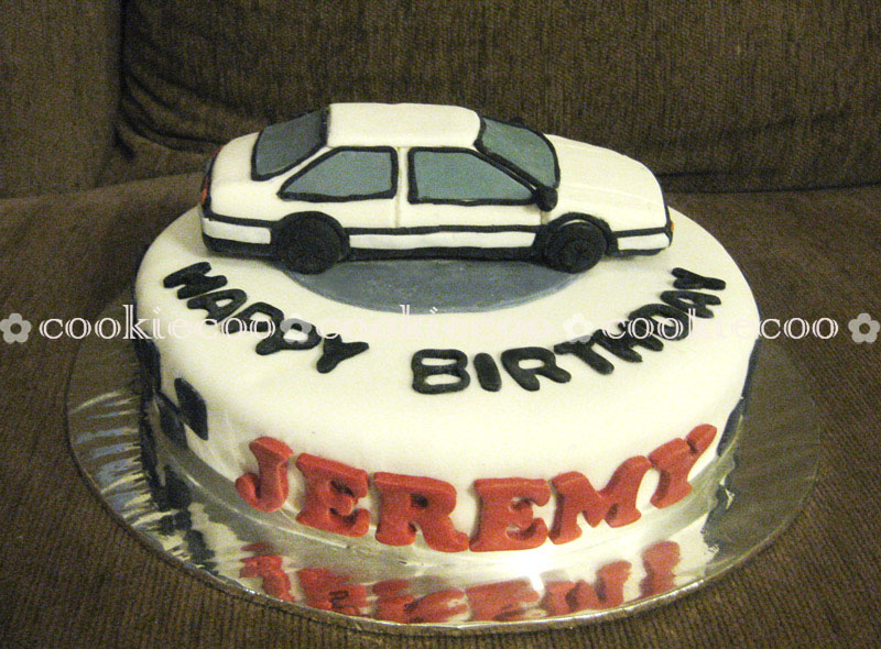 Cookiecoo Initial D Car Cake For Jeremy
