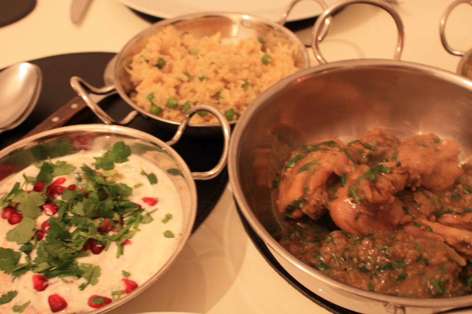 A new girl in vienna anniversary dinner for our meal on monday evening i decided to make some recipes from the book indian food made easy by anjum anand we had chicken with peppercorns and forumfinder Choice Image
