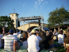 The stage set up at the Mondavi Concert