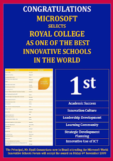 Microsoft Selects Royal College As One Of The Best Innovative Schools In The World