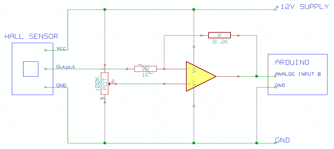 hall effect sensor circuit diagram archive