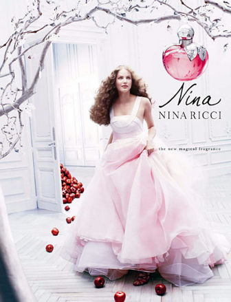 Perfume Advert Posters. Nina by Nina Ricci winter perfume