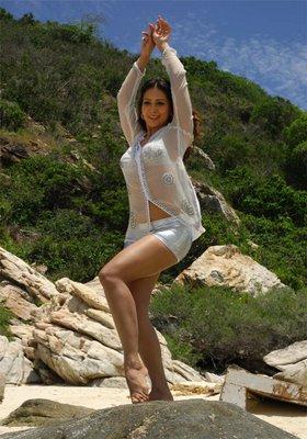 Kim Sharma at beach sexy stills