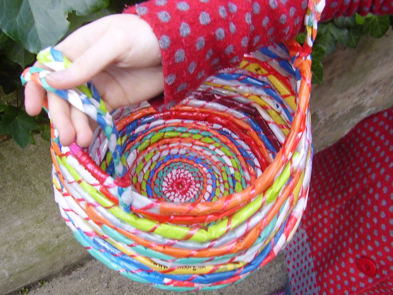 recycling by Weaving plastic bags
