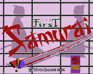 First Samurai Loading Screen Amiga