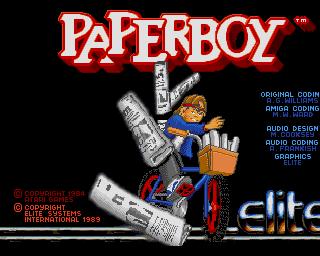 Amiga Games Paperboy