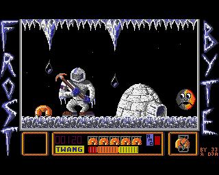 The puzzles get trickier in Frost Byte on the Amiga
