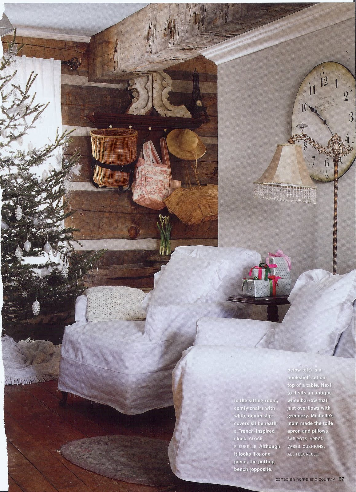 Heart Shabby Chic: A Country Christmas Decor Ideas