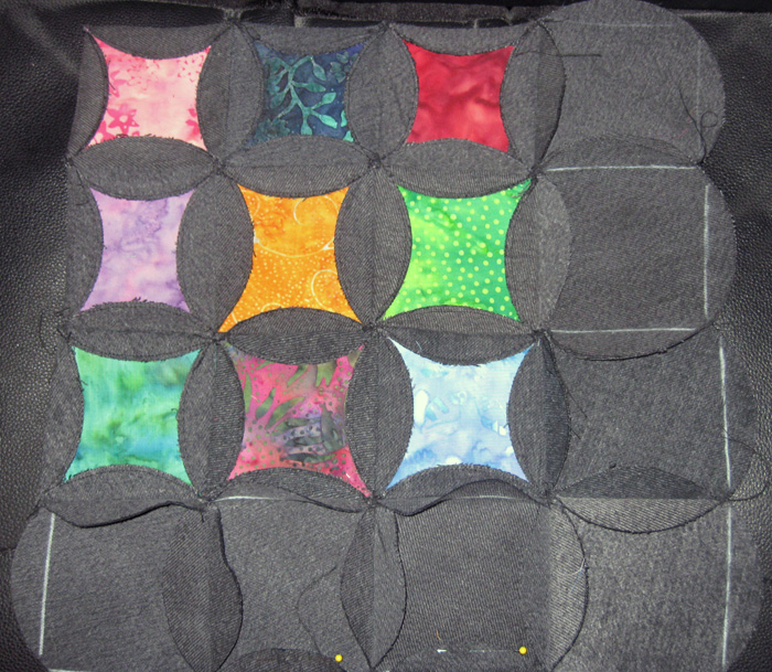 All Things Crafty Mock Cathedral Window Quilt Progress Update