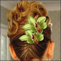 wedding cabaret  hairstyles flower power