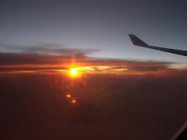 Coucher de soleil a 10000 metres d'altitude
