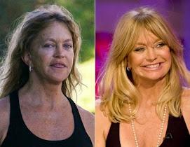 Impressionante a atriz Goldie Hawn depois do photoshop